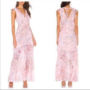 REVOLVE X BCBGeneration Floral Ruffle Maxi Dress